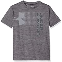 Under Armour UA Crossfade Camiseta de Manga Corta, Niños, Gris (Black/Steel-001), L