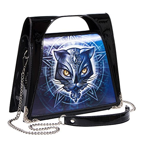 Borsa Alchemy Gothic 3D Cat Face (Nero) Nero