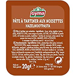 Gyma 120 coupelles de pate à tartiner aux noisettes 20g (120 x 20g)