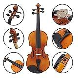 ammoon Volle Größe 4/4 natürliche akustische solide Holz Fichte Flamme Ahorn Furnier Violine Geige für Anfänger Student Performer mit RS Rosin Wiper Weihnachten Geschenk Present