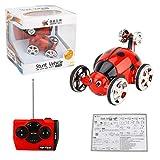 Fantasyworld Erstellen Sie Spielzeug 2152B 2CH Mini Stunt Toggle Trolley Radio Control Roll RC Car 360 Umdrehung Stunt Flip-Auto für Kinder