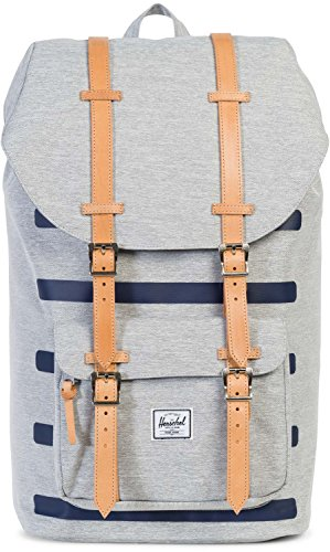 Little America Backpack hellgrau / hellbraun