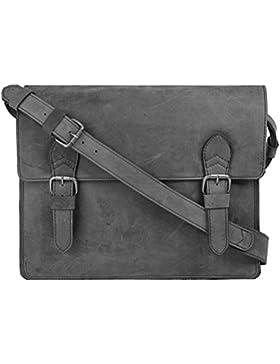 Harold's Eastend Umhängetasche Leder 40 cm Laptopfach