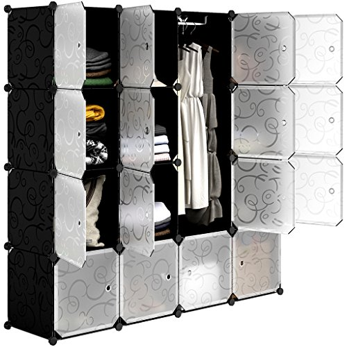 Langria scarpiera armadio armadietto guardaroba scaffale cubi mobiletto modulare modello riccio in bianco e nero