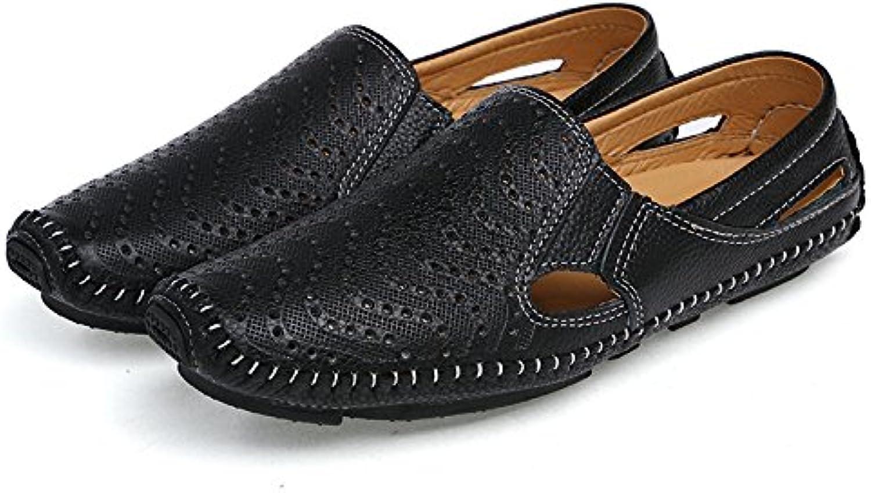 Breathable Handmade Leder Bean Schuhe Fahren Schuhe Männer Faule Schuhe Sommer Sandalen Hausschuhe