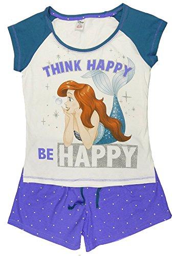 Voll Zurück Höschen Set (Damen Charakter Schlafanzüge zum Auswählen Super Frau Tinkerbell Eeyore Marvel Heroes Minnie Mouse - kleine Meerjungfrau kurzes Höschen, 12-14 Ladies)