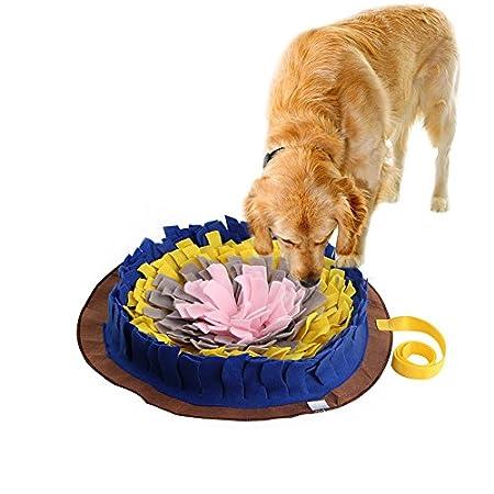 createjia Schnüffelteppich Für Hunde Geruchsempfindung Trainieren Matte Intelligenz Spielzeug für Hunde – Langlebig und Maschinen Waschbar Schnüffelmatten 45 * 45cm 4 farbenen Matte