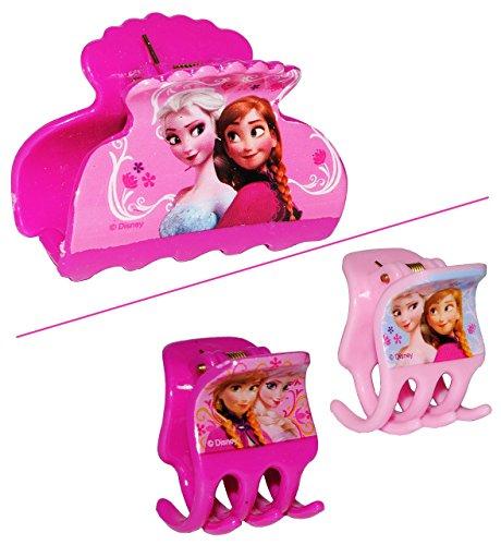 Unbekannt 3 TLG. Set Haarclips / Haarspangen -  Disney die Eiskönigin - Frozen  - für Kinder Mädchen Schmuck Haarschmuck - Mädchen Prinzessin Olaf - völlig unverfrore..
