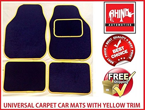 hyundai-sante-fe-06-12universal-gelb-radkappe-teppich-auto-matte-set