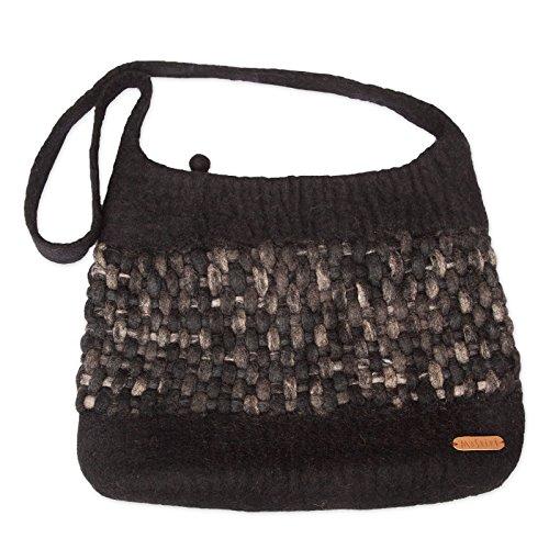 Moshiki Bag Filztasche mehrere Farben wählbar Black