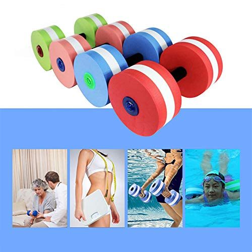 Wankd Aqua hanteln, Aqua Fitnessgerät Wassersport,Wasser Hanteln für Wasser Fitness Aquagym Aquajogging (D-1PCS Matcha Grün) -