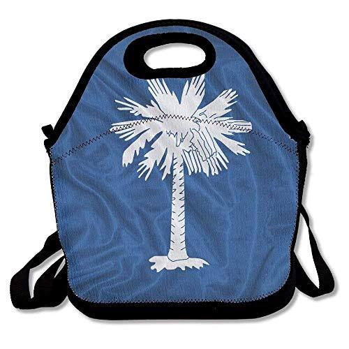 South Carolina Womens Zip (VTXWL South Carolina Flag Palmetto Tree Indigo Field Revolutionary War Flags Awesome Lunch Tote Lunch Bag School Mid-Sized)