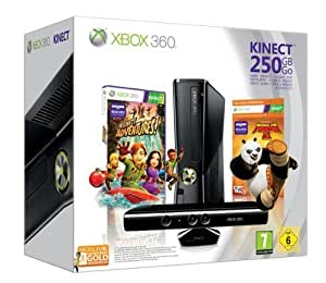 Console Xbox 360 250 Go + Kinect + Kinect adventures ! + Kung Fu Panda 2 + Carte abonnement 3 mois - gold
