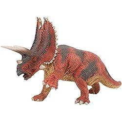 Zooawa Juguete de dinosaurio Pentaceratops - Negro + Rojo