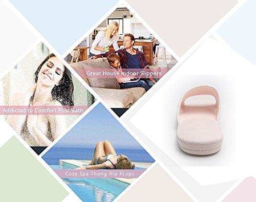 Moodeng Haus Hausschuhe Männer und Frauen Dusche Sandale Slipper Indoor Slide Bad Schuhe Unisex für Bad Boden Pool Gym Himmelblau