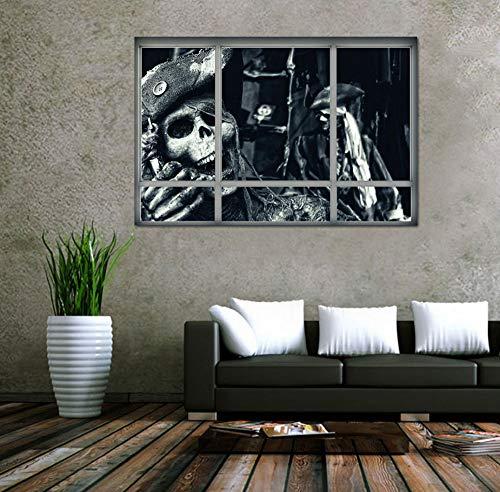Sgbfz Plakatkunsttapete Halloween-Hexe-Hintergrund Verzierte Wohnzimmer-Schlafzimmer-Wandaufkleber