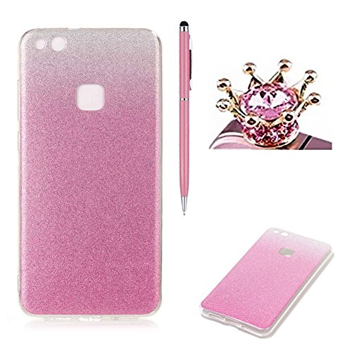 huawei-p10-plus-caseskyxd-gradient-color-pink-luxury-sparkle-glitter-slim-soft-flexible-silicone-pro