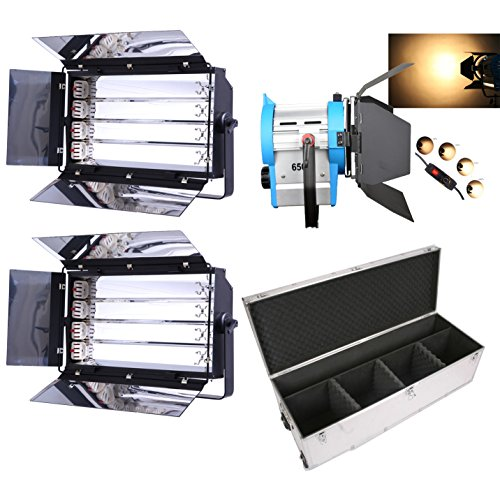 HWAMART® Kit 1x650W tungsteno Fresnel Luci 2x fluorescente 4 Banca