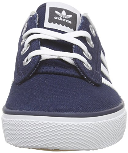 adidas Originals Kiel, Sneakers basses mixte adulte Bleu (Collegiate Navy/Ftwr White/Carbon)