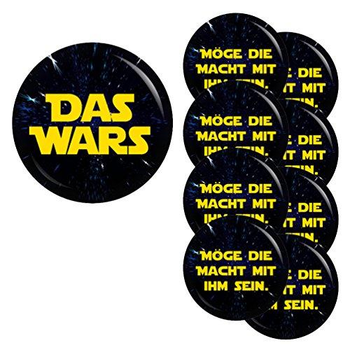 Kiwikatze® JGA - Das Wars-Möge die Macht mit ihm sein-Set 37/56mm Button Ansteckbutton Junggesellenabschied und Hochzeit