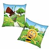 Herding Flip   Kinder Kissen 40 x 40 cm   Biene Maja   Kuschelkissen   Dekokissen