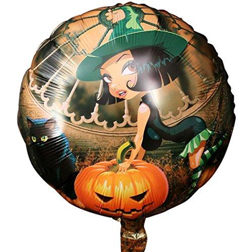 allons,10PCS Halloween-Kürbis Halloween 18 Zoll Aluminiumfilm-Ballon By JIANGFU (C) (Animierte Halloween-geschichten Für Kinder)