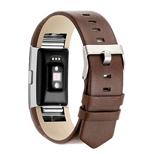 Fotover Fitbit Charge 2 Armband Lederband, Verstellbar Ersatz Sport Straps Armband Uhrenarmbänderfür Fitbit Charge 2 Fitness Armband, Klein groß (Leder-bereitstellung Uhrenarmbänder)