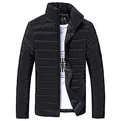 Anglewolf Men Lightweight Quilted Puffer Jacket Winter Cotton Casual Warm Stand Collar Slim Zipper Padded Thicken Coat Outwear M-5XL : everything five pounds (or less!)