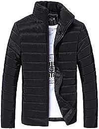ZIYOU Clearance Male Slim fit Coat, Mode Warm Outwear Jacke mit Reißverschluss/Herbst Winter Licht Stehkragen Streetwear Mantel Einfarbig für Männer Jungen
