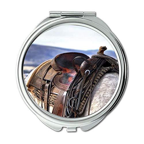 Yanteng Spiegel, Schminkspiegel, Tierlandschaftsfeld, Taschenspiegel, tragbarer Spiegel