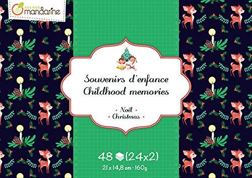 Avenue Mandarine-cc036C-Bloque de Recuerdos de Infancia de 48Hojas-Tema Navidad