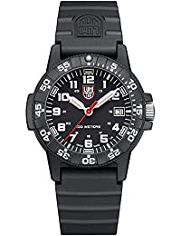 Luminox Leatherback Sea Turtle 0300 series Watch with carbon compound Case Black|White Dial and PU Black Strap XS.0301