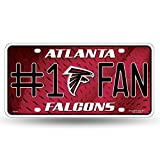 Unbekannt NFL # 1 FAN Metall Auto Tag, Atlanta Falcons