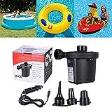 MEGAN Elektropumpe Luftpumpe für Schlauchboote Luftbettpumpe Poolspielzeug Schwimmpumpe...