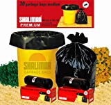 #1: Shalimar Premium Garbage Bags (Medium) Size 48 cm x 56 cm 6 Rolls (180 Bags) (Trash Bag/ Dustbin Bag)