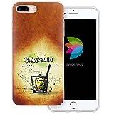 dessana Cocktail Rezepte Transparente Silikon TPU Schutzhülle 0,7mm Dünne Handy Tasche Soft Case für Apple iPhone 8 Plus Caipirinha