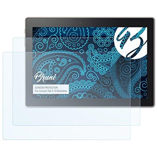 Bruni Schutzfolie für Lenovo Tab 3 10 Business Folie, glasklare Bildschirmschutzfolie (2X)