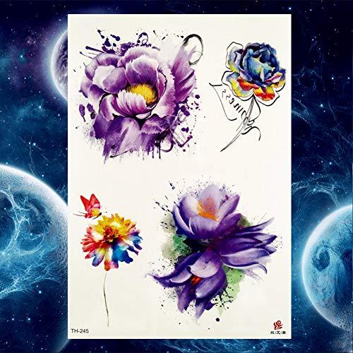Wolf wasserdichte Tattoo Frauen Beine Große Tattoos Temporäre Vögel Fox Arm Tatoos Body Art Paste, Gth245 ()