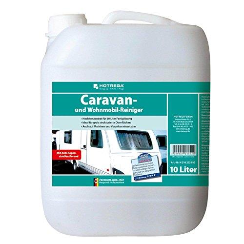 HOTREGA Caravan und Wohnmobil Reiniger 10 Liter - Wohnwagen Reinigungsmittel, Caravan mühelos reinigen