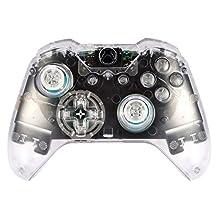 eXtremeRate® matt transparent genomskinlig kontroll hölje skal skal skal skal skal skal heltäckande uppsättning ansiktsplattor ersättningskit med knappar för Microsoft Xbox One Controller med 3,5 mm headset uttag