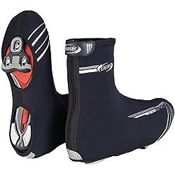 BBB Heavyduty - Botín térmico de ciclismo para hombre, color negro, talla 37/38