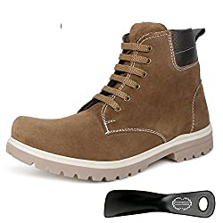 Escaro Mens Tan Lace Up Boots (ES4043BK_Tan_10)