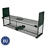 Moorland Safe 5007,Trappola XL per Animali, 100x 25x 25cm, Adatta per martore, Gatti, Volpi, Trappola con 2ingressi