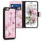 kwmobile Coque Apple iPhone 6 / 6S - Étui Portefeuille Détachable pour Apple iPhone 6 / 6S avec Compartiment Carte et Fonction Support