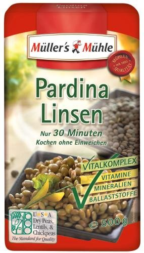 Müller's Mühle Pardina Linsen, 7er Pack (7 x 500 g Beutel)*