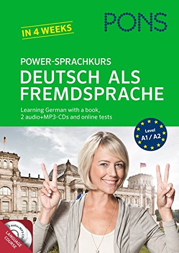 PONS Power-Sprachkurs Deutsch als Fremdsprache: Learn German the easy way: With a book, Mp3-CDs and online tests