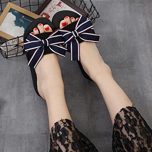 SOMESUN Sandali Pantofole da Donna Massaggio Traspirante Leggero Morbido Scarpe da Spiaggia Infradito da Esterno con Infradito Estivo da Donna Blu