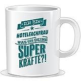 getshirts - RAHMENLOS® Geschenke - Tasse - Superpower Hotelfachfrau - petrol - uni uni