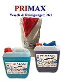 10kg Waschpulver +10 L Flüssigwaschmittel blau +10 L Blackwash +Tuch u.Ausgießer
