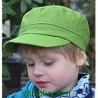 Michelmütze Leinen grasgrün